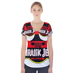 Jurassic Jeep Park Short Sleeve Front Detail Top