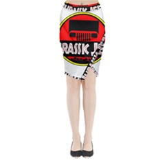 Jurassic Jeep Park Midi Wrap Pencil Skirt