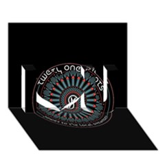 Twenty One Pilots Power To The Local Dreamder I Love You 3d Greeting Card (7x5)