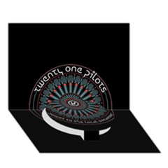 Twenty One Pilots Power To The Local Dreamder Circle Bottom 3d Greeting Card (7x5)