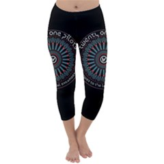 Twenty One Pilots Power To The Local Dreamder Capri Winter Leggings