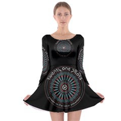 Twenty One Pilots Power To The Local Dreamder Long Sleeve Skater Dress
