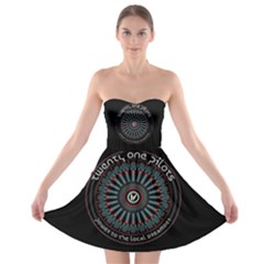 Twenty One Pilots Power To The Local Dreamder Strapless Bra Top Dress