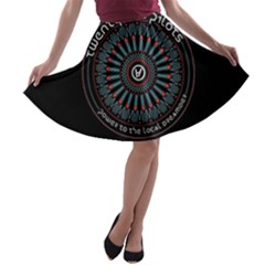 Twenty One Pilots Power To The Local Dreamder A Line Skater Skirt