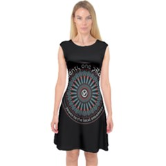Twenty One Pilots Power To The Local Dreamder Capsleeve Midi Dress