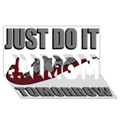Just Do It Tomorrow #1 Mom 3d Greeting Cards (8x4)