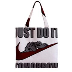 Just Do It Tomorrow Zipper Grocery Tote Bag