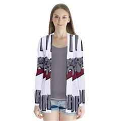 Just Do It Tomorrow Drape Collar Cardigan