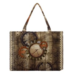 Wonderful Steampunk Design With Clocks And Gears Medium Tote Bag