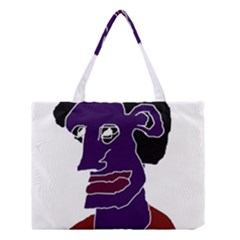 Man Portrait Caricature Medium Tote Bag