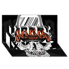 Kreator Thrash Metal Heavy Hard Rock Skull Skulls Merry Xmas 3D Greeting Card (8x4)