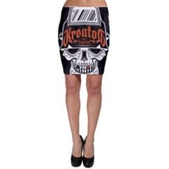Kreator Thrash Metal Heavy Hard Rock Skull Skulls Bodycon Skirt