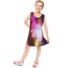 Abstract Background Design Squares Kids  Tunic Dress