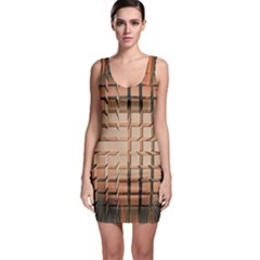 Abstract Texture Background Pattern Sleeveless Bodycon Dress