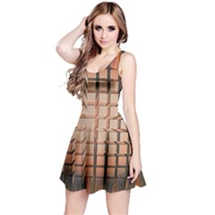 Abstract Texture Background Pattern Reversible Sleeveless Dress