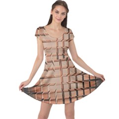 Abstract Texture Background Pattern Cap Sleeve Dresses