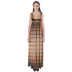 Abstract Texture Background Pattern Empire Waist Maxi Dress