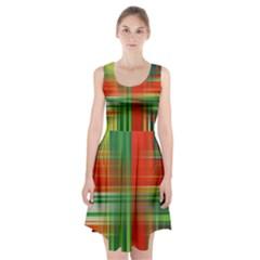 Background Texture Structure Green Racerback Midi Dress