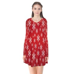 Christmas Snow Flake Pattern Flare Dress