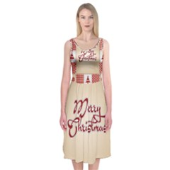 Christmas Patterns Pattern Midi Sleeveless Dress