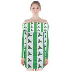 Holly  Long Sleeve Off Shoulder Dress