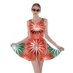 Star Pattern Skater Dress