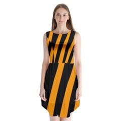 Tiger Pattern Sleeveless Chiffon Dress