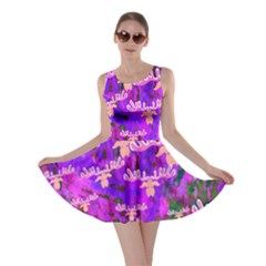 Watercolour Paint Dripping Ink  Skater Dress