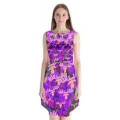 Watercolour Paint Dripping Ink  Sleeveless Chiffon Dress
