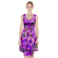 Watercolour Paint Dripping Ink  Racerback Midi Dress