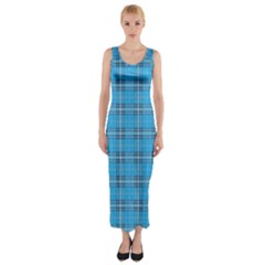 The Checkered Tablecloth Fitted Maxi Dress