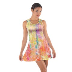 Watercolour Watercolor Paint Ink Cotton Racerback Dress