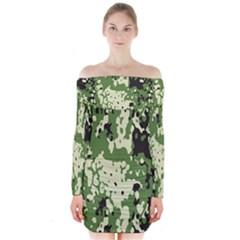 Flectar Long Sleeve Off Shoulder Dress