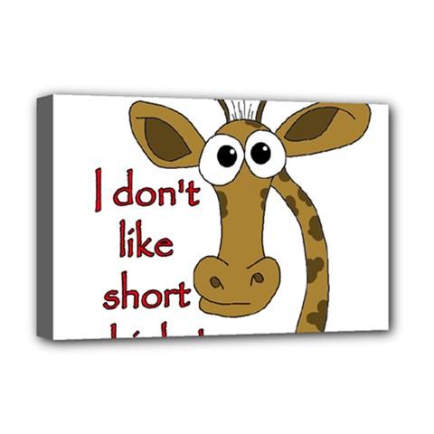 Giraffe Joke Deluxe Canvas 18  X 12