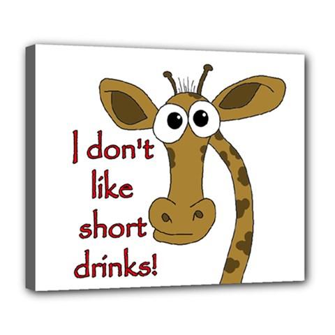 Giraffe Joke Deluxe Canvas 24  X 20