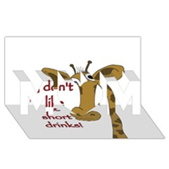 Giraffe Joke Mom 3d Greeting Card (8x4)