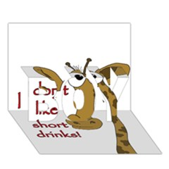 Giraffe Joke Boy 3d Greeting Card (7x5)