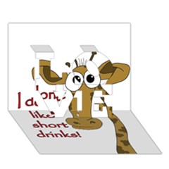 Giraffe Joke Love 3d Greeting Card (7x5)