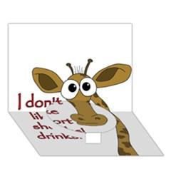 Giraffe Joke Circle Bottom 3d Greeting Card (7x5)