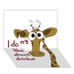 Giraffe Joke Apple 3d Greeting Card (7x5)