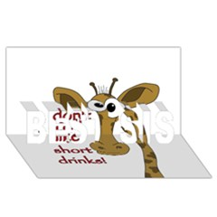 Giraffe Joke Best Sis 3d Greeting Card (8x4)