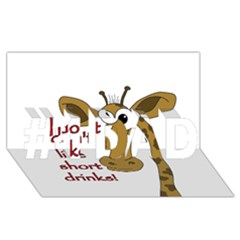 Giraffe Joke #1 Dad 3d Greeting Card (8x4)