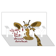 Giraffe Joke Party 3d Greeting Card (8x4)