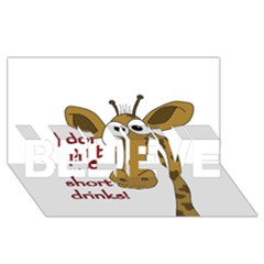 Giraffe Joke Believe 3d Greeting Card (8x4)