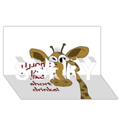 Giraffe Joke Sorry 3d Greeting Card (8x4)