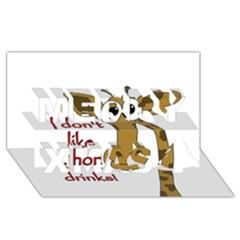 Giraffe Joke Merry Xmas 3d Greeting Card (8x4)