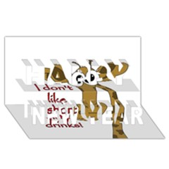 Giraffe Joke Happy New Year 3d Greeting Card (8x4)