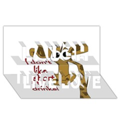 Giraffe Joke Laugh Live Love 3d Greeting Card (8x4)