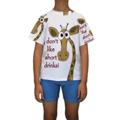 Giraffe Joke Kids  Short Sleeve Swimwear