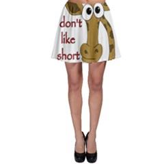 Giraffe Joke Skater Skirt